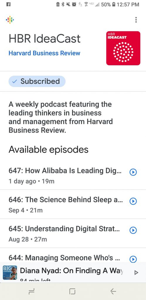 How to use google podcasts - HBR cast